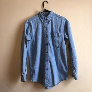 b858ee618e0 Eddie Bauer Tops - Vintage Eddie Bauer 90s denim shirt OVERSIZED